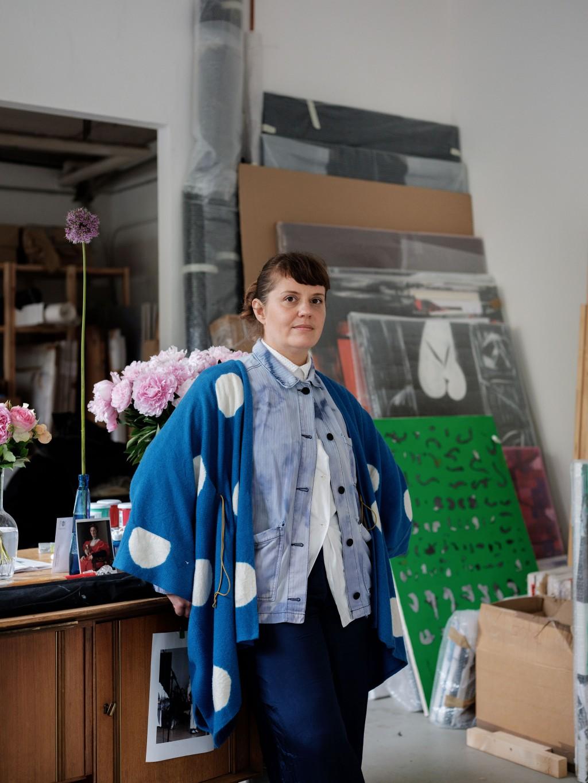Portrait der Künstlerin Sarah Szczesny, Koeln, 2020