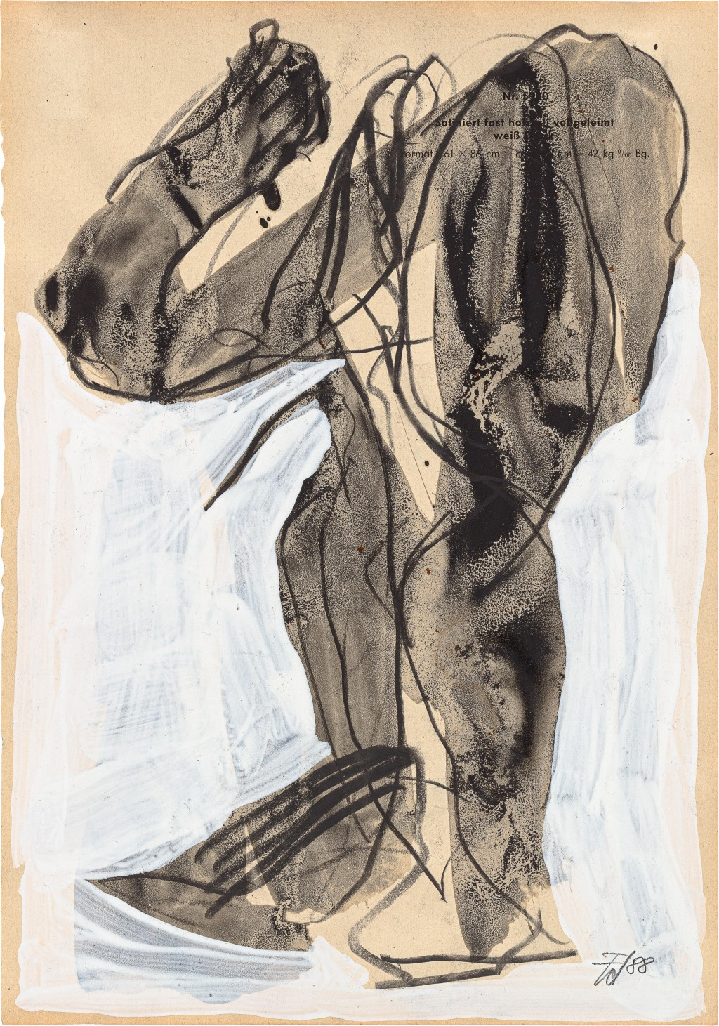 abstrakte Malerei ines Körpers