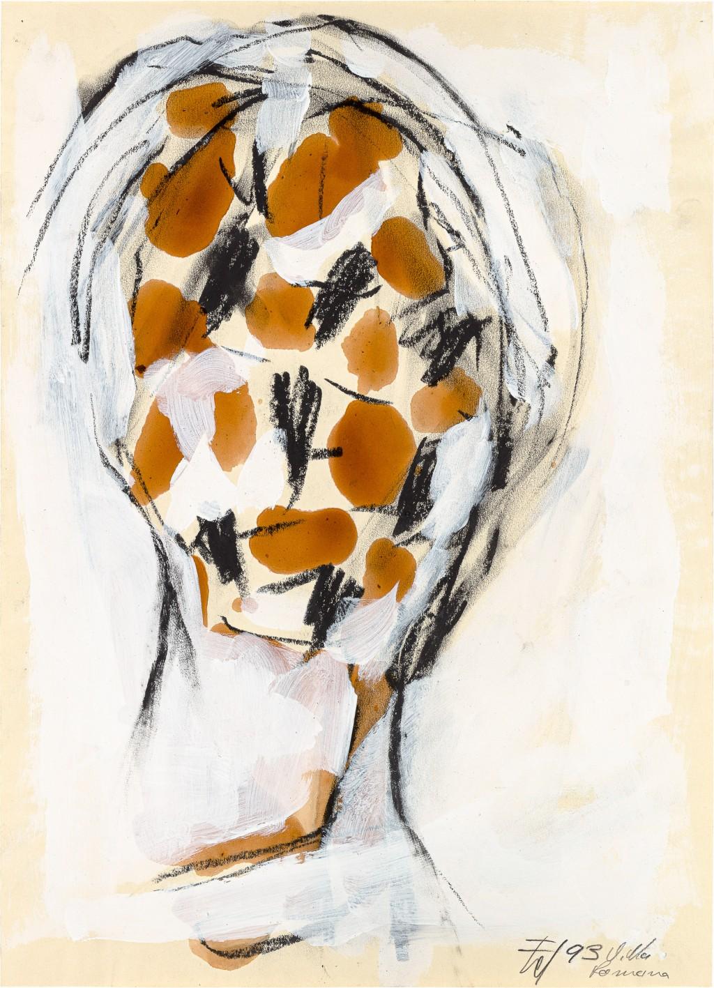 Malerei eines Kopfes