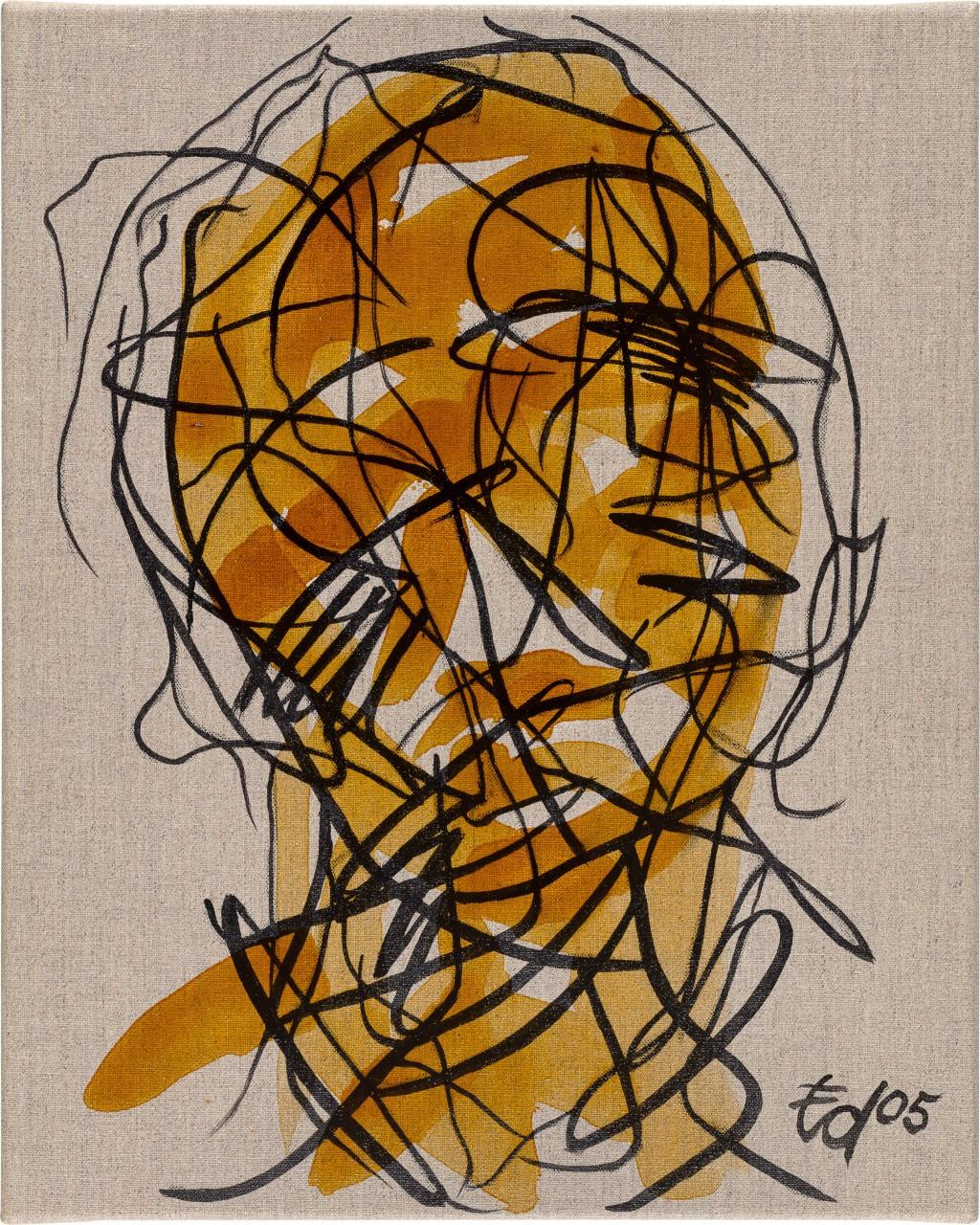 Kopfdarstellung mit schwarzen Linien
