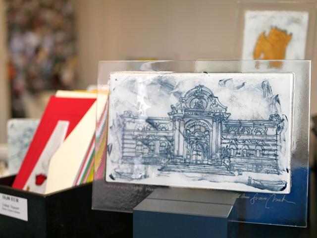 Glasarbeit mit Leopold-Hoesch-Museum