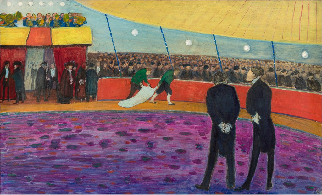 Zirkus vor der Vorstellung