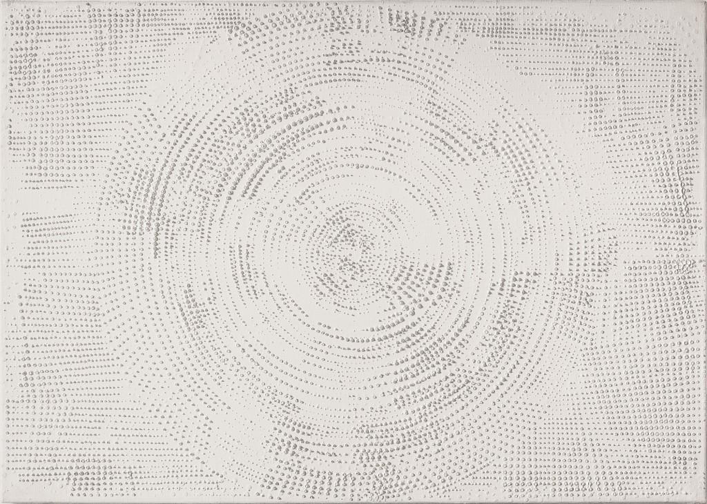 Kreisstrukturen auf Weiß